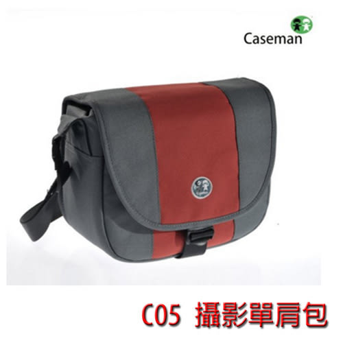 Caseman 卡斯曼 C05-01 專業側背包(紅)