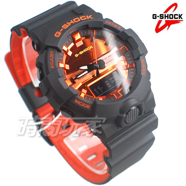 G-SHOCK CASIO卡西歐 橘色主題 電子錶 雙顯錶 GA-800BR-1A 雙重LED燈 耐衝擊構造 GA-800BR-1ADR