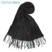 RALPH LAUREN POLO 小馬LOGO素面披肩圍巾(黑色)780909