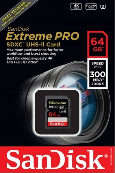 【免運】SanDisk 64GB 64G SDXC Extreme Pro 【300MB/s】ultra II SD SDHC U3 4K C10 V30 SDSDXPK-064G 高速相機記憶卡