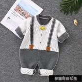 嬰兒連身衣保暖衣冬秋季寶寶夾棉內衣爬服哈衣新生兒衣服冬裝外出 11-20 快速出貨