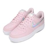 Nike 休閒鞋 Wmns Air Force 1 07 ESS 粉紅 炫光 女鞋 AF1 【PUMP306】 CJ1646-600
