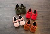 新款女童寶寶秋冬季加絨公主豆豆鞋
