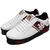 Royal Elastics 休閒鞋 Icon 白 紅 皇家LOGO 無鞋帶 皮革鞋面 男鞋【PUMP306】 02081092