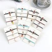 [協貿國際]可愛小清新髮圈頭繩卡通水果吊墜簡約扎頭髮橡皮筋頭飾品1入
