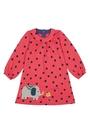 有機棉 兒童 長袖 洋裝 英國 Frugi - 有機棉點點大象圖騰 DRA504LBE