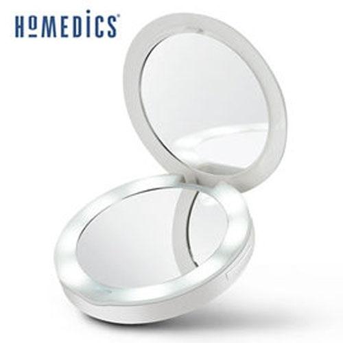 美國 HOMEDICS 二合一行動電源補光化妝鏡 MIR-150LED  ■ 可兼當行動電源(3000mAh)