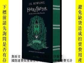 二手書博民逛書店英文原版罕見哈利波特與鳳凰社 20周年學院版 斯萊特林精裝 Harry Potter and the Order