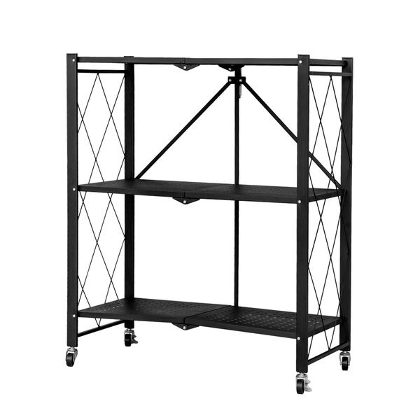 收納架/置物架/層架 免安裝三層折疊角鋼貨架 兩色可選 dayneeds