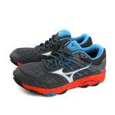 美津濃 Mizuno WAVE MUJIN 5 GTX Gore-tex 慢跑鞋 運動鞋 深灰色 男鞋 J1GJ185703 no062