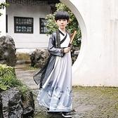 兒童漢服演出服古裝超仙童裝書童國學服男女童開學禮童裝套裝班服 快速出貨