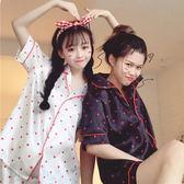 618好康鉅惠夏季女裝韓版小清新甜美愛心短袖睡衣