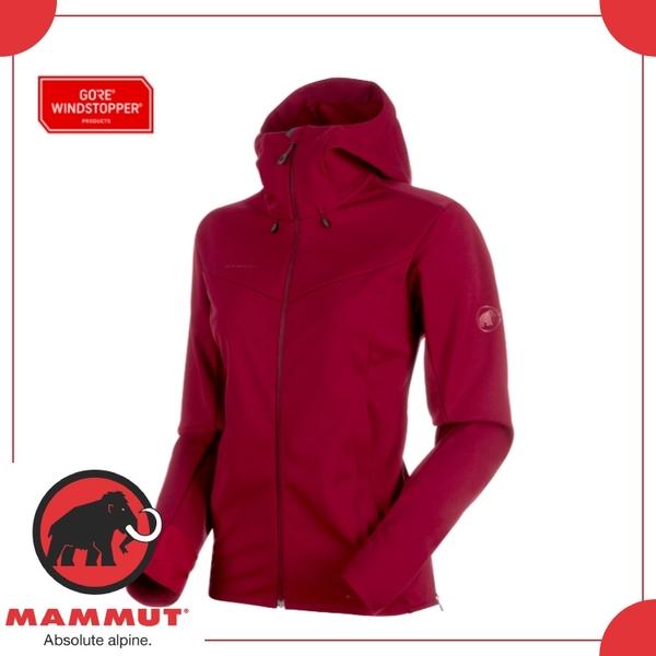 【MAMMUT Ultimate V SO Hooded Jkt 女《甜菜根》】1011-00072-3496/防風/保暖/外套