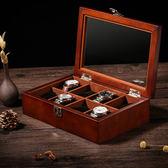 木質制天窗手錶盒手鍊串首飾手錶收納盒展示盒收藏盒子八表位 年貨慶典 限時鉅惠