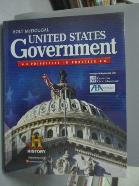 【書寶二手書T6/大學社科_ZEQ】United States Government: Principles in Pr
