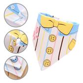 純棉三角巾 雙層按扣口水巾卡通圍嘴嬰兒頭巾-JoyBaby