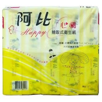 阿比 心情抽取式衛生紙 (180張x10包)/串【康鄰超市】