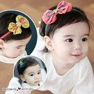 超萌蝴蝶結金絲星星造型兒童髮帶 髮飾