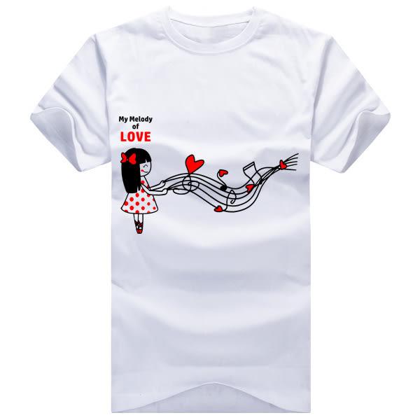 加字訂購專區 快速出貨 純棉短T 台灣製【Y0005】My LOVE melody from HEART 男女可穿 情侶裝 可單買