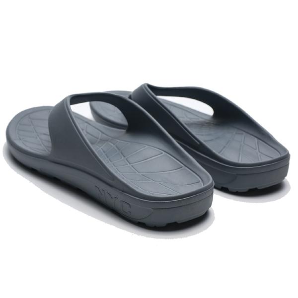EVERLAST 灰色 螢光LOGO 運動拖 夾腳拖鞋 男 (布魯克林) 4921220110