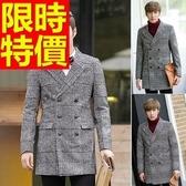 毛呢外套典型秋冬-精美羊毛長版商務男大衣2色61x67【巴黎精品】
