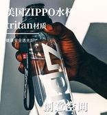 美國zippo塑料防摔戶外水壺Tritan大容量便攜健身男女運動水杯子 創意新品