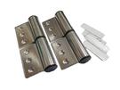 直線微調型 自動歸位鉸鏈 自動回復鉸鏈 HA42409 不鏽鋼 插心後鈕 旗型鉸鏈 (一組兩片)