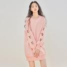 連身裙 傭懶愛心鏤空長袖洋裝GQ1130...