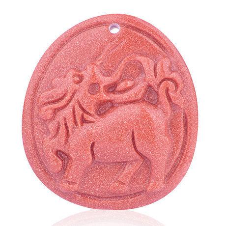 開光 屬羊者吉祥物--麒麟送寶掛件