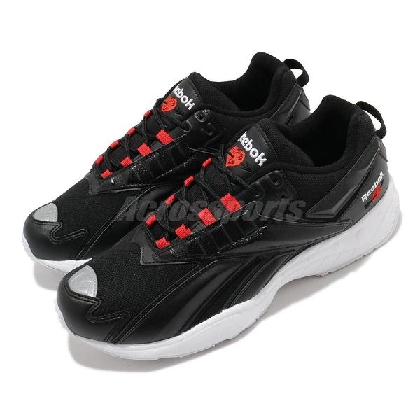 Reebok 休閒鞋 INTV 96 情人節 黑 紅 男鞋 女鞋 小愛心 復古慢跑鞋 老爹鞋 【ACS】 FX2144