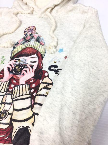 [正韓大童]可愛毛帽女孩帽T(刷毛款)