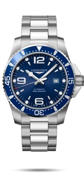【送品牌禮物】深海藍水鬼64小時動力儲防水300米L37424966征服者系列機械男錶 41mm