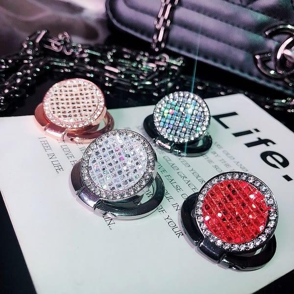 【SZ62】閃粉水鑽指環支架 超薄 磁吸環扣 iPhone XS MAX XR 華碩 HTC OPPO 三星 通用支架