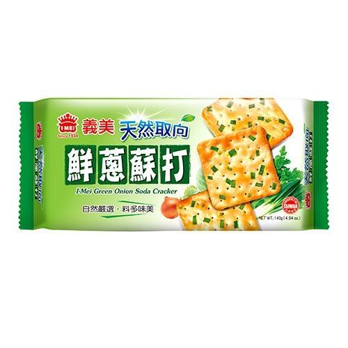 義美天然取向蘇打餅乾(鮮蔥)140g【愛買】