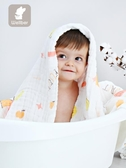 新生嬰兒浴巾秋冬款嬰幼兒寶寶紗布浴巾兒童純棉吸水 森活雜貨