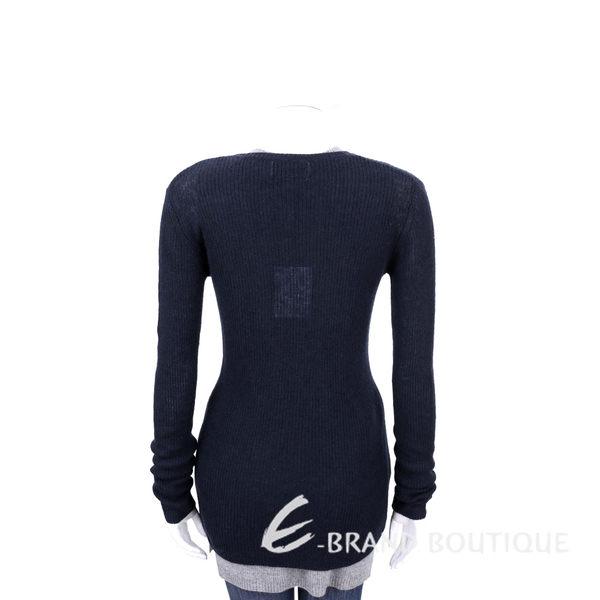 ALLUDE 70% WOOL 深藍色羊毛長袖上衣 1540648-34