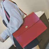 韓版簡約大包女鎖扣手提包時尚通勤單肩包 都市韓衣