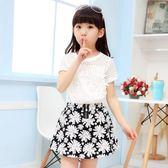 七夕全館85折 春裝女童裝新款短裙套裝