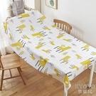 桌布 家用印花臺布餐桌墊茶幾墊 長方形防油墊免洗餐桌布買一送一  京都3C