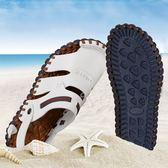 新款男士夏季正韓包頭休閒沙灘鞋個性百搭學生拖鞋  名購居家
