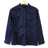 【MASTINA】小蝴蝶結印花設計襯衫- 藍  冬末好康