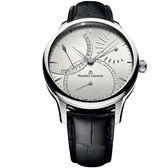 【僾瑪精品】Maurice Lacroix 艾美錶 匠心系列 日曆回撥機械時尚腕錶-銀白/46mm/MP6508-SS001-130