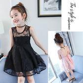【熊貓】親子裝母女連身裙蕾絲夏新款韓版洋氣公主裙
