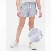 Gap女童甜美風格鬆緊腰短褲540061-海軍藍條紋