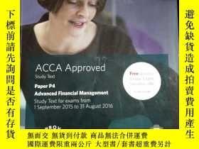 二手書博民逛書店ACCA罕見Approved Study Text Paper P4 Study Text for exams f