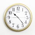 SEIKO精工掛鐘 耀眼時尚金色大數字設計時鐘 滑動式靜音秒針【NG1718】原廠公司貨