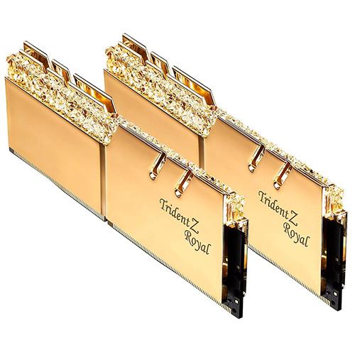 芝奇 G.SKILL Trident Z Royal 皇家戟 DDR4-3200 8GBx2 超頻記憶體 (皇族金) F4-3200C16D-16GTRG
