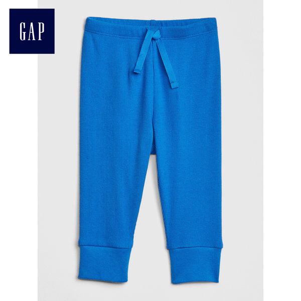 Gap男女嬰兒 舒適簡潔休閒長褲 466803-微風藍