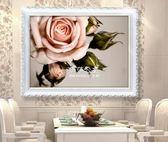 鑽石畫客廳滿鑽復古玫瑰嬌艷玫瑰點粘貼磚秀簡單繡十字繡  伊莎公主