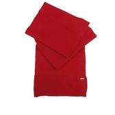 【COACH】素面針織混羊毛圍巾(紅) F32711 BRD